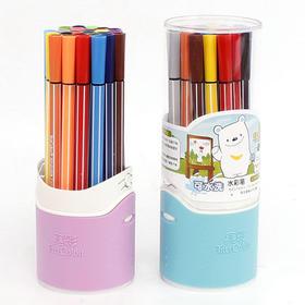 真彩24色儿童水彩笔画笔 绘画涂色本上色笔 可水洗学生彩笔