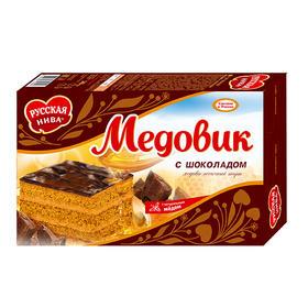 """【三八节】俄罗斯提拉米苏进口 """"田野""""牌 巧克力蜂蜜蛋糕340g"""