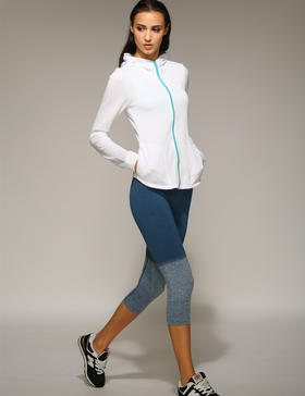 跑步指南P6303跑步瑜伽渐变色7分裤