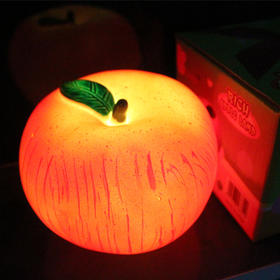 【轻松赚】LED仿真绿叶苹果小夜灯平安夜圣诞节礼物643