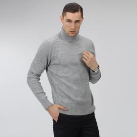 Eabri男羊毛衫新款 高领套头针织衫 潮修身毛衣 商务精品男装