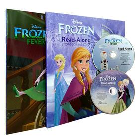 原版英文 Frozen 冰雪奇缘 2本+2CD 儿童有声童话绘本 迪士尼经典