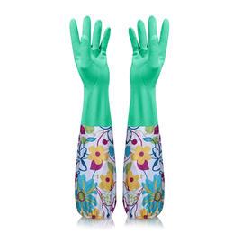【与您同行】带绒家务手套加绒加厚洗衣洗碗手套冬天家用洗车洗菜清洁塑料手套c363