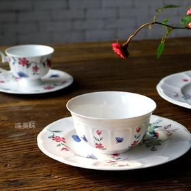 A级真骨瓷妍系列大盘小盘汤碗甜品碗 西式咖啡(茶)杯碟 家宴轰趴下午茶 食尚好礼