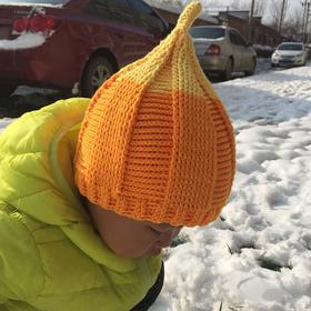 【小辛娜娜】卷边尖尖帽/奶嘴帽/渔夫帽子手工编织视频教程材料包