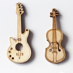 吉他琴木扣子大衣扣吉它卡通扣子diy手工装饰儿童卡通扣子纽扣