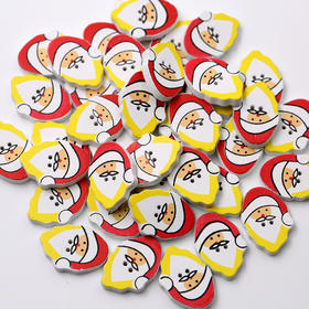 圣诞老人卡通扣子 儿童卡通木扣子 儿童服装辅料扣子 卡通圣诞扣