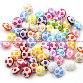 足球卡通扣子纽扣 彩色卡通扣子 diy儿童扣子 手工扣子