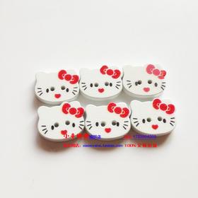 小辛娜娜编织套装kitty猫扣子纽扣动物扣子宝宝卡通扣子绒绒线扣