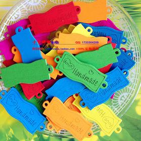 彩色波浪形木牌扣子 handmade激光标志装饰木扣 木质纽扣服装辅料