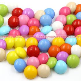 蘑菇扣 珍珠扣 光头扣 彩色树脂圆扣 直径18mm 大头扣子