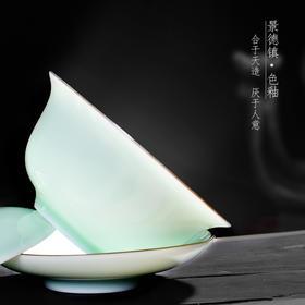 景德镇陶瓷器盖碗 三才碗敬茶碗泡茶功夫茶杯 颜色釉茶具