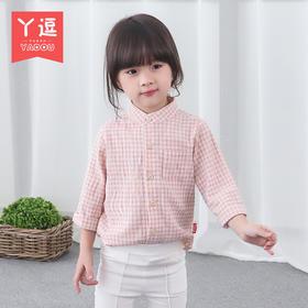 丫逗春装女童衬衫2016新款小童衬衣2韩版3宝宝白色衬衫5岁打底衫YCS23
