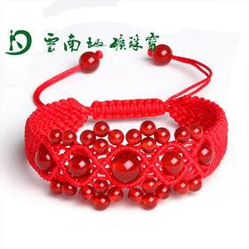 【云南地矿珠宝】天然红玛瑙本命红绳 珠宝 手串 手链 饰品