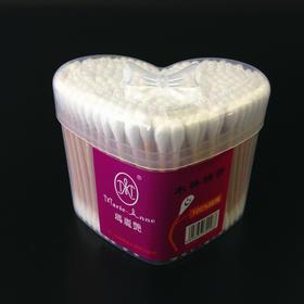 心型盒装双头棉签 100%纯棉   200支装