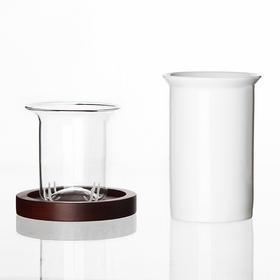 哲品 茶具陶瓷茶壶过滤玻璃泡茶器 办公室单人冲茶器ZK杯黑川雅之