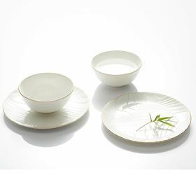 哲品家居 流金岁月餐具两碗两碟两筷餐具套装新婚乔迁高端礼品