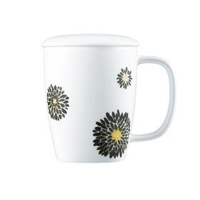 哲品家居 变色马克杯陶瓷创意杯子会议杯带盖子 创意礼品包邮