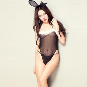 7205兔女郎情趣内衣网纱透视诱惑套装女式超性感制服