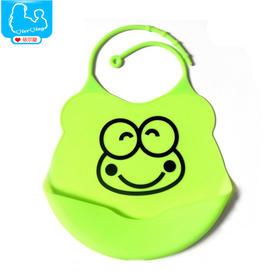 防水婴儿口水巾新生儿用品硅胶围嘴围兜硅胶口水兜口水巾防水KSJ001