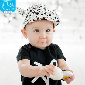 婴儿帽子遮阳帽宝宝帽子春季出游季新生儿童帽子鸭舌棒球帽子MZ207