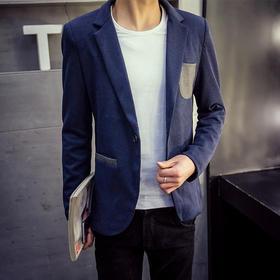 【华瑞泰】韩版修身男士西装英伦青年西服休闲男装外套单西潮A61-BK9910