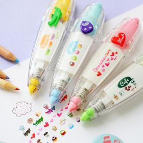 三年二班●韩国文具 创意按压式花边修正带 可爱修饰带 日记必备
