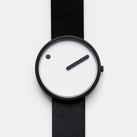 Picto 点滴时间个性皮带腕表|黑白色(瑞士)