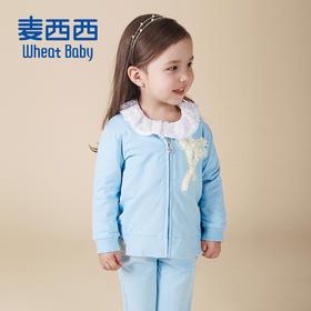 女幼童针织拉链套装2016春装新款 原价¥ 299
