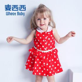 海外秀 女婴童印花无袖腰带连衣裙 2016夏装新款 原价 ¥ 188