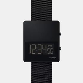 VOID 留白大方块设计骚表|数字液晶钢表 黑色(瑞典)