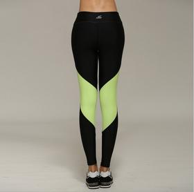 欧美风专业荧光色拼接跑步运动长裤