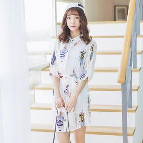 春装衬衫连衣裙D154【青葱里】