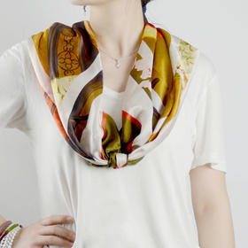 川朴Champur 原创艺术设计 复古 古典 真丝 丝巾 方巾 围巾