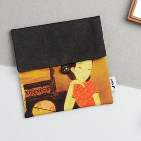 曹卫红油画衍生品 | 春花照暮愁  亚麻真丝零钱收纳化妆包 原创设计