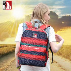 【爱心箱送】加拿大INUK 时尚潮流旅行印花双肩包男女学生背书潮包