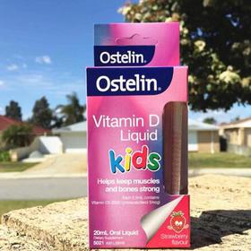 澳洲进口Ostelin VD 婴儿童液体维生素D滴剂补钙 草莓味 20ml