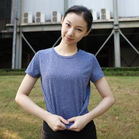女款春夏季速干圆领短袖运动T恤健身衣