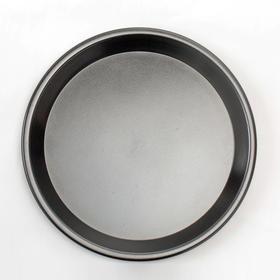 千团精工圆形披萨盘8寸烤披萨盘加厚不粘浅烤盘 烘焙工具