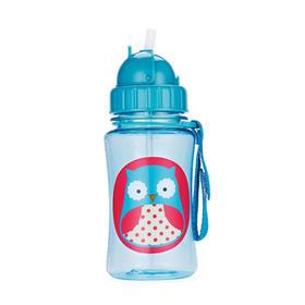 美国Skip Hop可爱动物园儿童防漏吸管杯 350ml