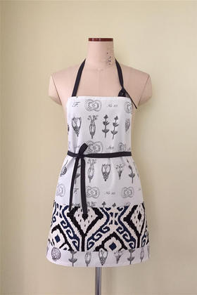 MARY KHOO 套头两面穿手绘种子花草摩登款手工限量围裙礼物