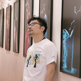 杨丽萍艺术 云南映象文化衫 (原创设计) 白色