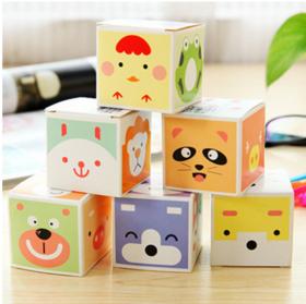 韩国文具 创意可爱便签纸 清新迷你可撕便签本5本一盒