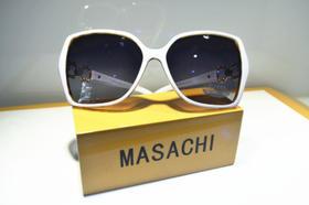 DIFENNI女士太阳镜 墨镜女士 太阳镜 驾车旅行偏光太阳镜 蛤蟆镜白色方框紫色镜片