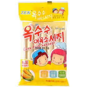 韩国进口食品零食即食鱼肠ZEK鳕鱼玉米肠105克7根休闲儿童零食