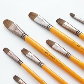 单支 长杆 黄杆 圆头 专业美术绘画笔   文具