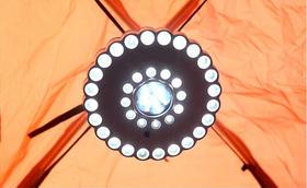 特价36+5LED帐蓬灯户外装备营地野营圆盘应急灯电池帐篷灯