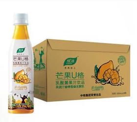 中粮 悦活U格 蜂蜜乳酸菌果汁饮品 芒果味 350ml 24瓶一箱  北京包邮