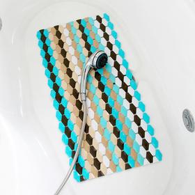 手编彩条pvc卫生间浴室淋浴防滑垫