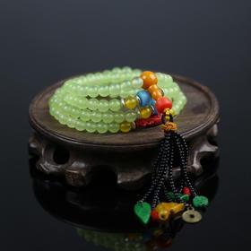 绿玉髓串珠流苏手链